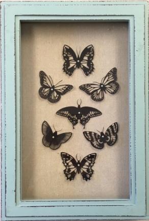 Butterflies in Teal
